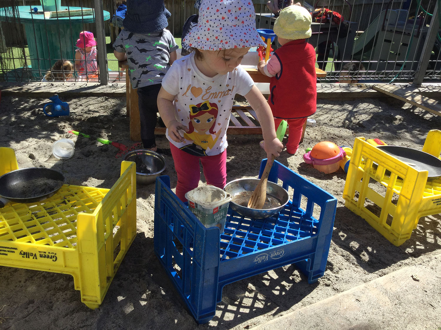 Cooking in the sandpit