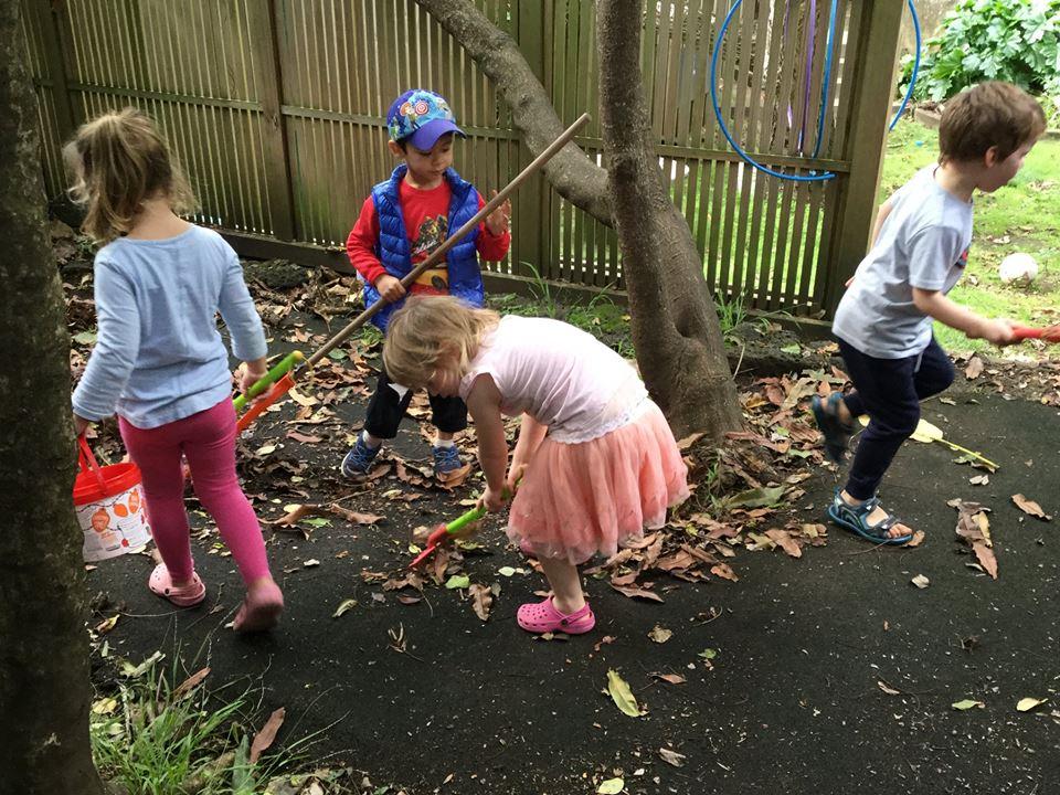 Busy day exploring in preschool
